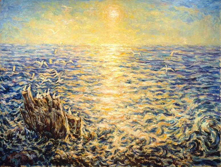 Atlantic Coast, 106.5, 142.0 cm, oil on canvas, 1986, Landscapes (524) [A102-86]