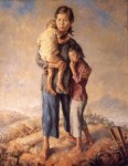 We're to Struggle on, 92 x 73 cm, oil on canvas, 1952, HK Museum of Art, Scenes (184), [B54-52]