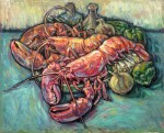 Lobsters, 66 x 81 cm, oil on canvas, 1976, Still Life (1087) [D123-76]